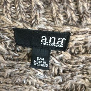 a.n.a Sweaters - a.n.a Tweed Brown and Cream Kimono Sweater Size S